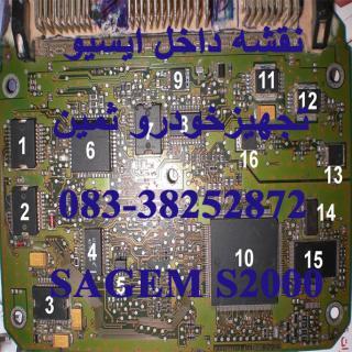 نقشه رنگی داخل ایسیو SAGEM S2000